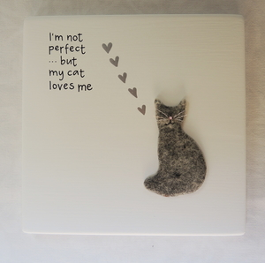 I´m not perfect  ..but my cat loves me