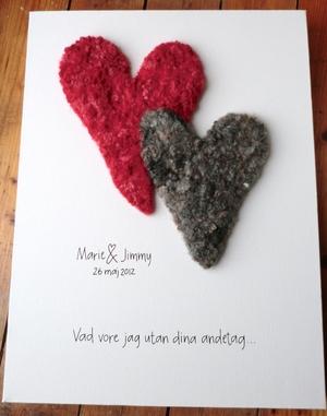 Bröllopstavla / kärlekstavla