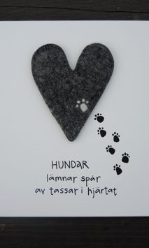 Hundar lämnar spår av tassar i hjärtat